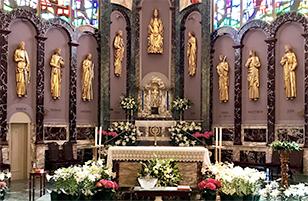 Altar of Queen of Apostles Parish